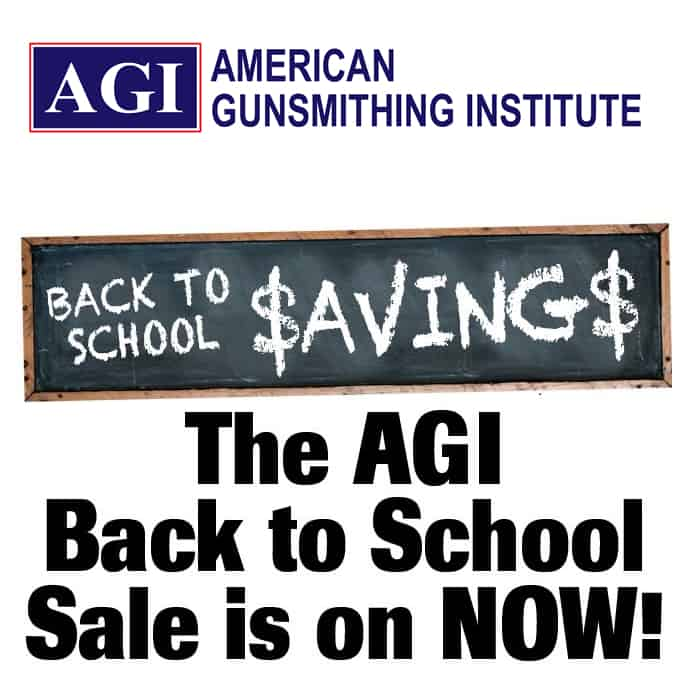 American Gunsmithing Institute Back to School Sale