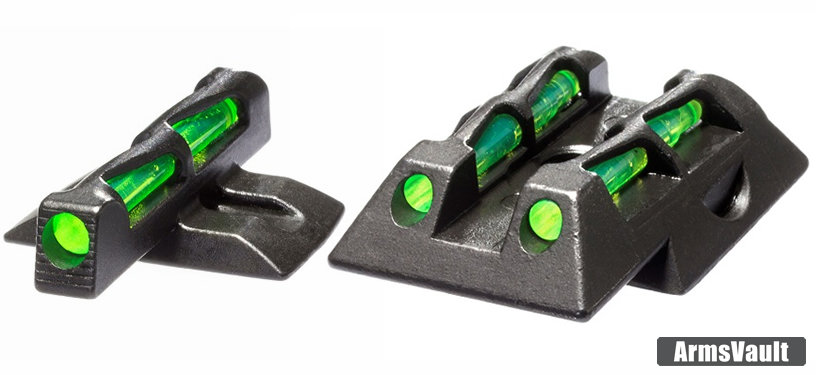HIVIZ LITEWAVE Front and Rear Sights for Ruger LC9 Concealed Carry Pistol