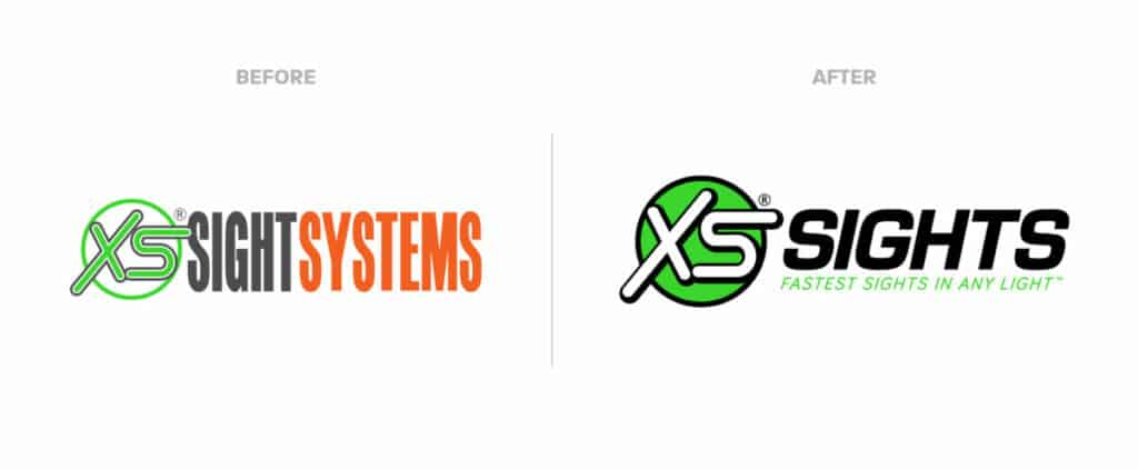 XS Sights New and Old Logo