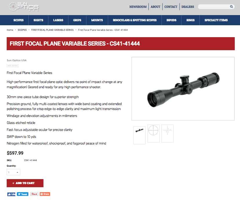 Sun Optics USA Website