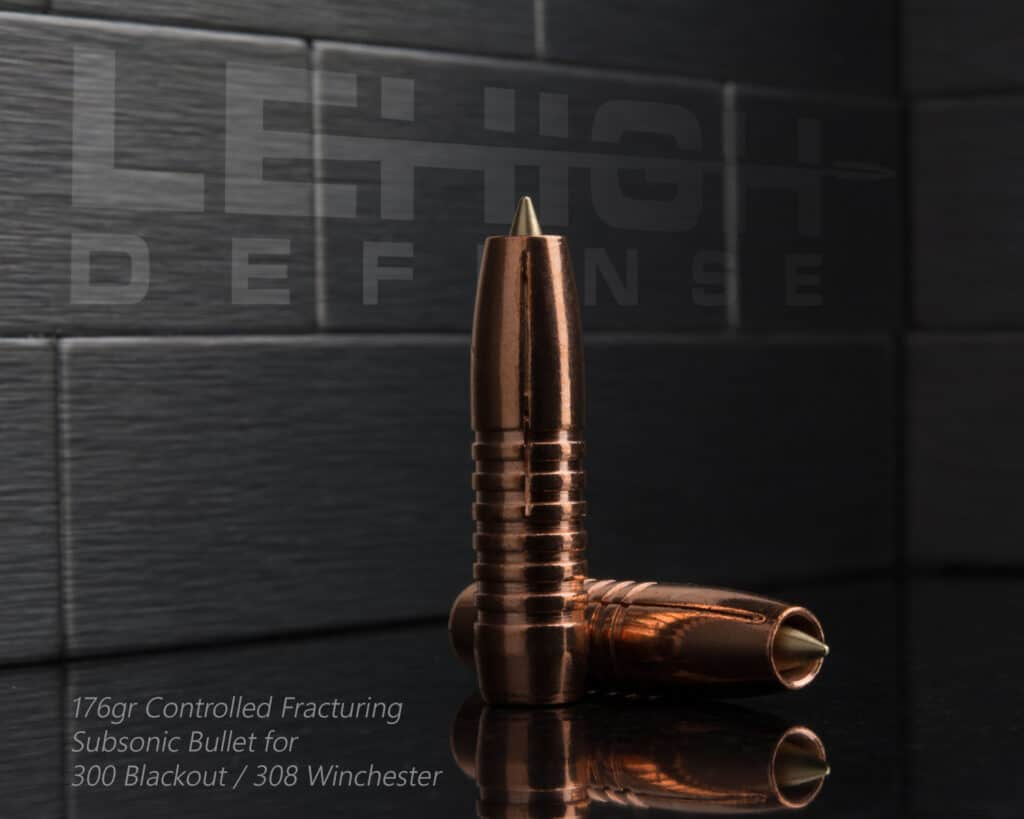 Lehigh Defense 308 Controlled Fracturing 176gr Subsonic Bullet