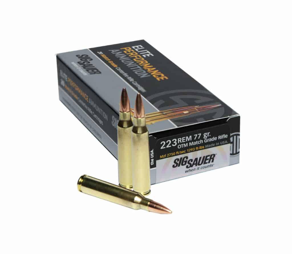 SIG SAUER 223 Rem Match Grade Ammunition