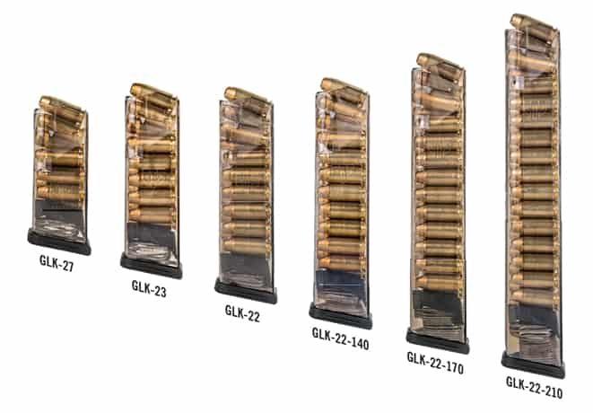 ETS 40 Cal Glock Clear Polymer Magazines