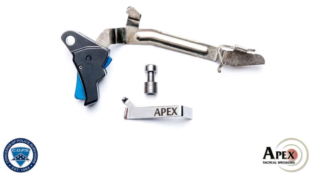 Apex Thin Blue Line Action Enhancement Kit for Glock Pistols