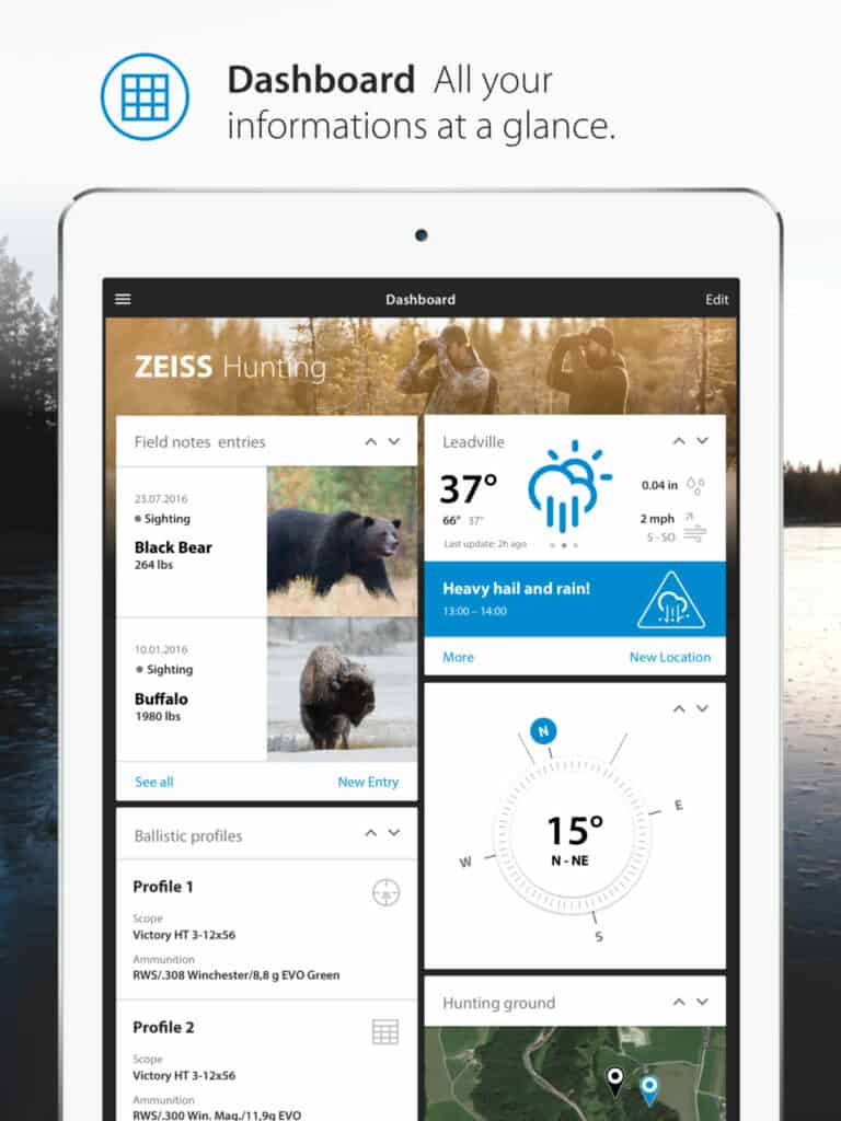 Zeiss Sports Optics Mobile Hunting and Shooting App