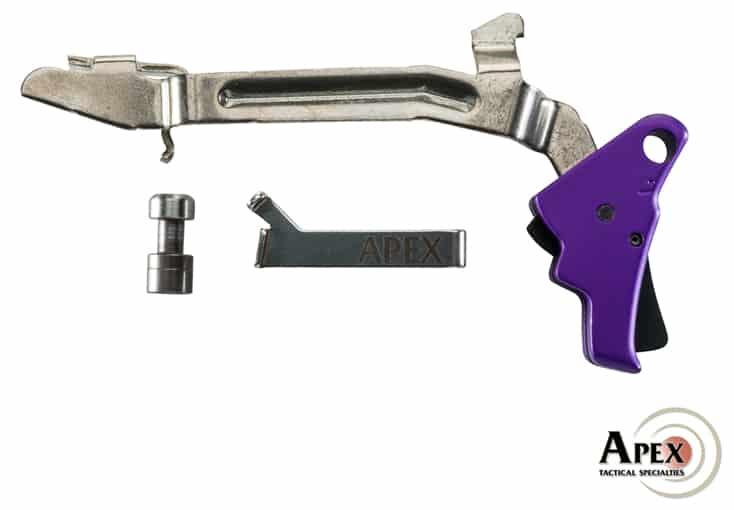 Apex Purple Anodized Triggers