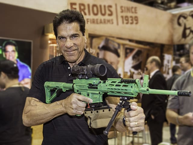 Brownells and Lou Ferrigno Big Green Dream Gun Giveaway