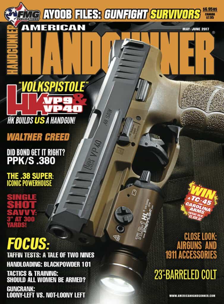 Heckler Koch Volkspistole VP9 and VP40 in American Handgunner