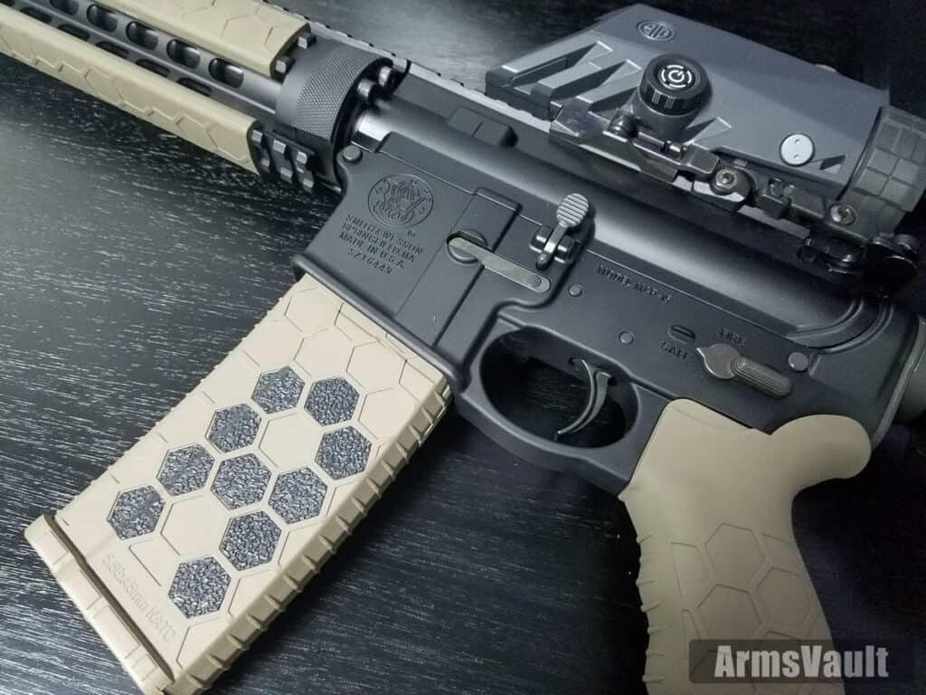 Hexmag Grip Tape on Smith and Wesson MP15T