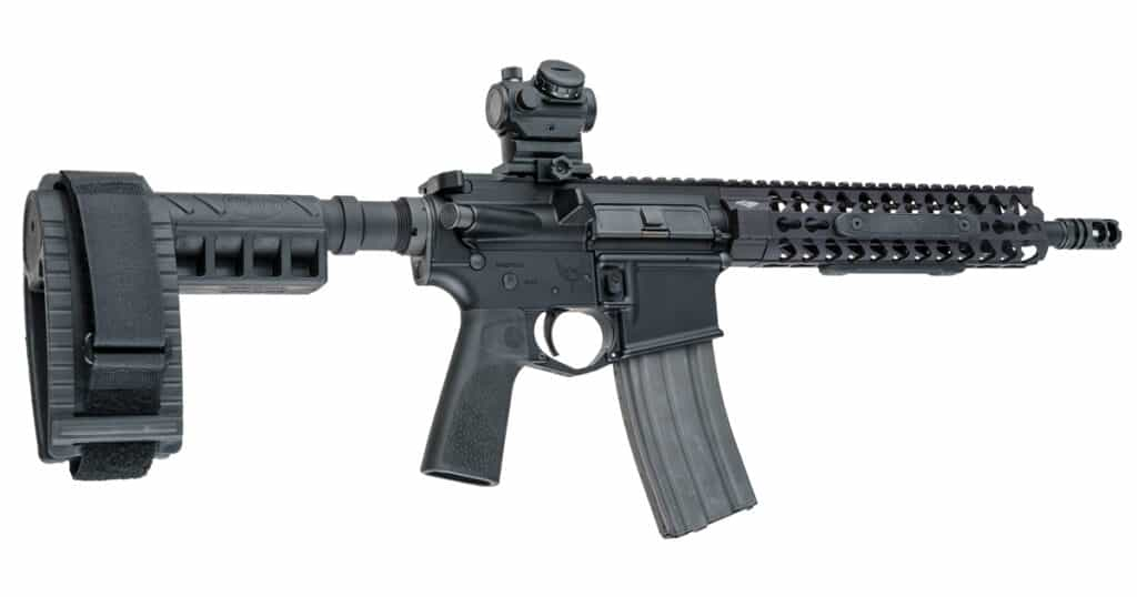 Hogue Polymer 15 Degree Vertical Grips for AR15 on AR Pistol