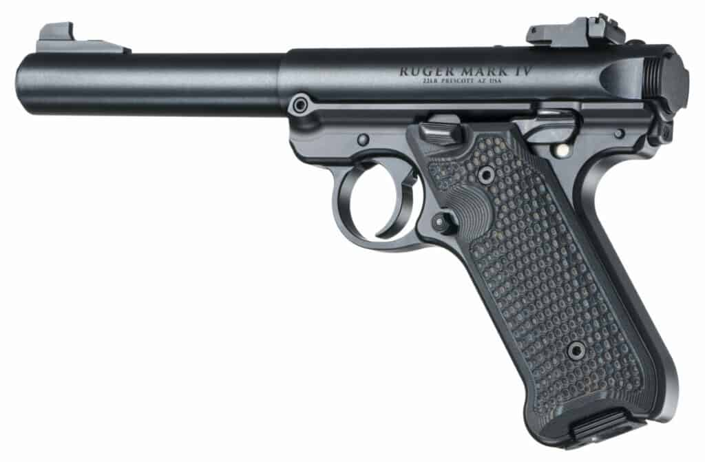 Hogue G10 Grips for Ruger Mark IV G-Mascus Black-Grey