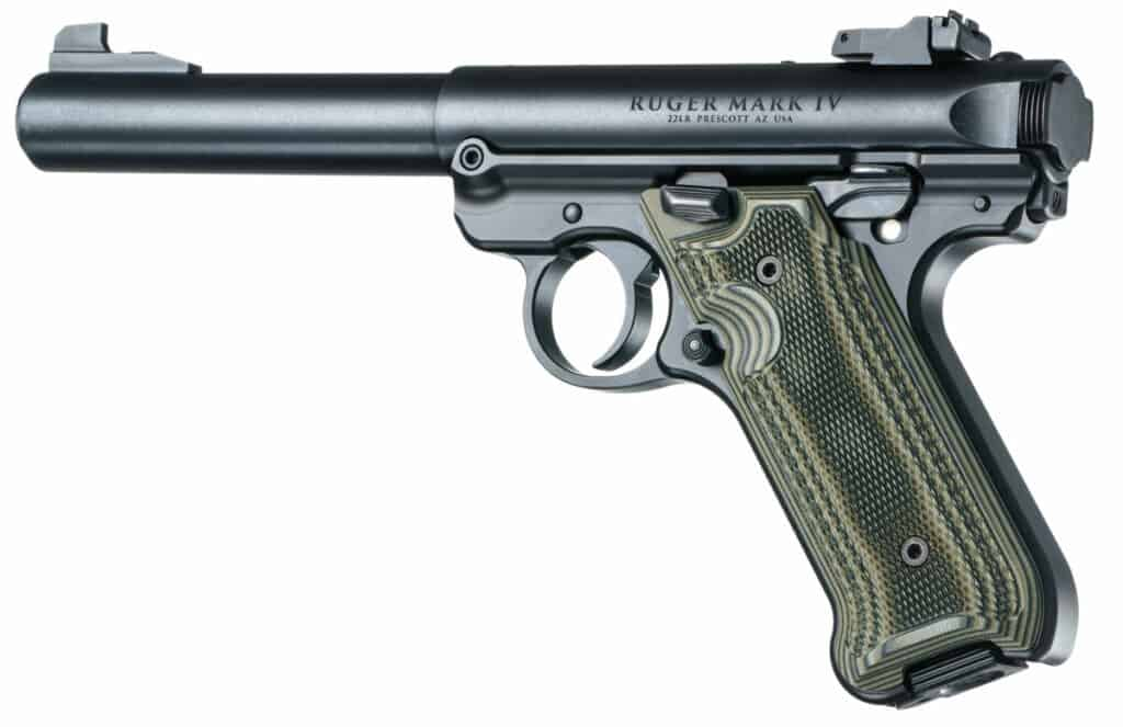 Hogue G10 Grips for Ruger Mark IV G-Mascus Green