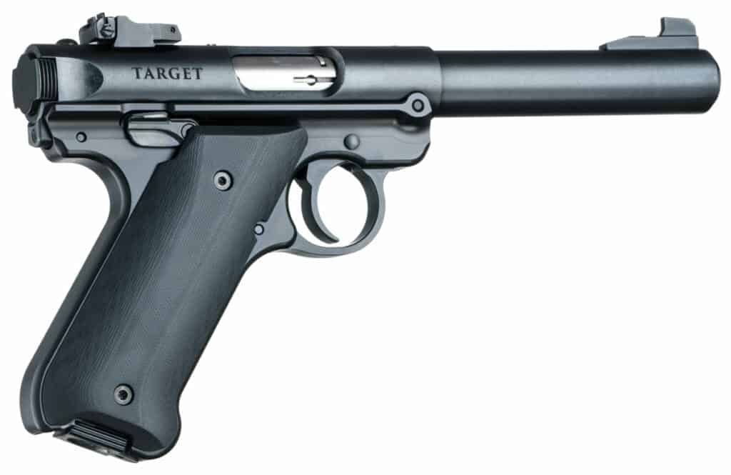 Hogue G10 Grips for Ruger Mark IV Solid Black