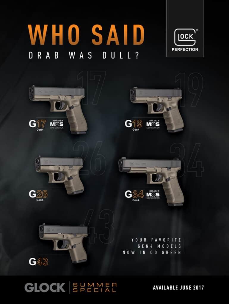 Glock Olive Drab Pistols