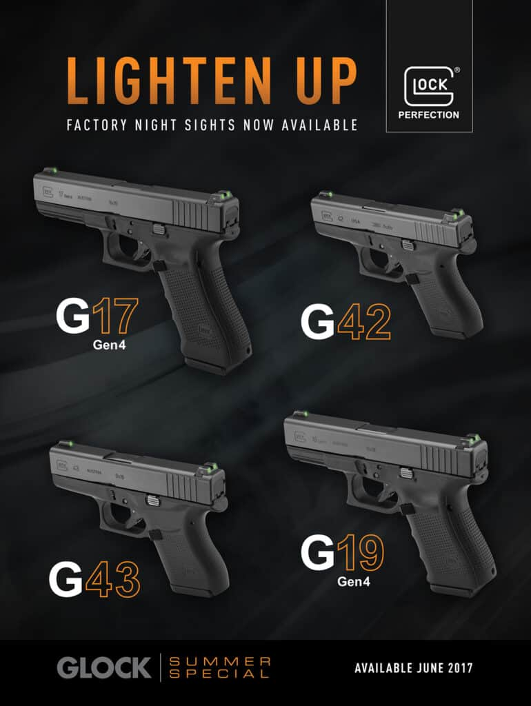 Glock Pistols with Night Sights