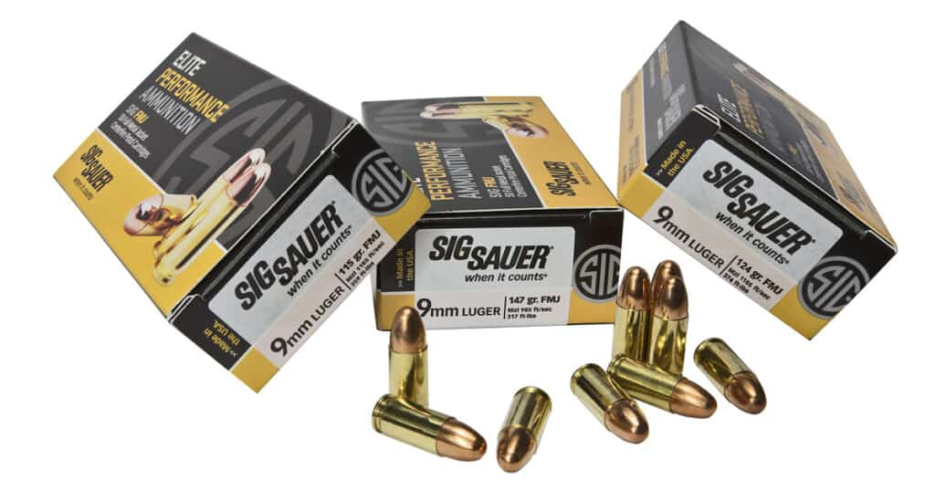 SIG 9mm FMJ Ammunition