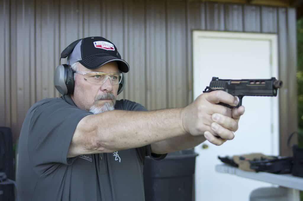 Birchwood Casey Krest 24 Muffs and Vektor Shooting Glasses Combo