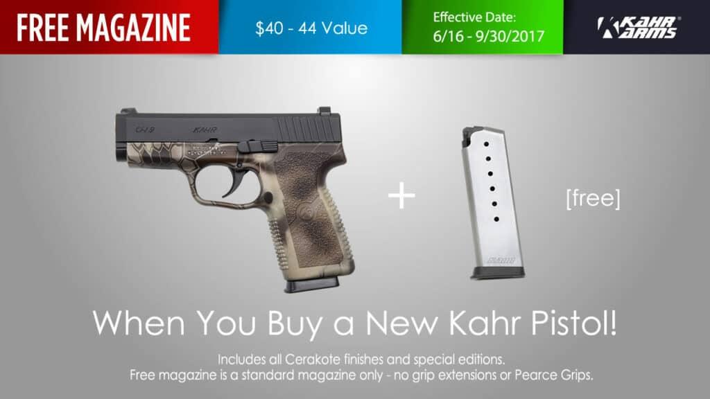Kahr Arms Free Magazine Promo
