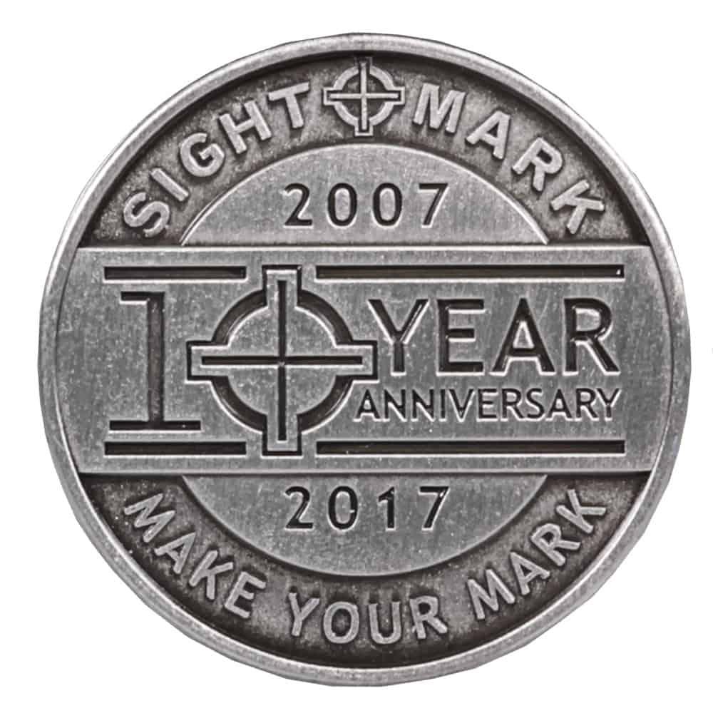 Sightmark 10th Anniversary Logo