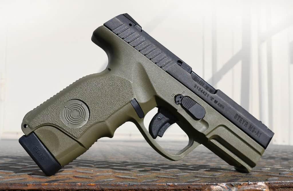 Steyr M9-A1 Pistol in OD Green