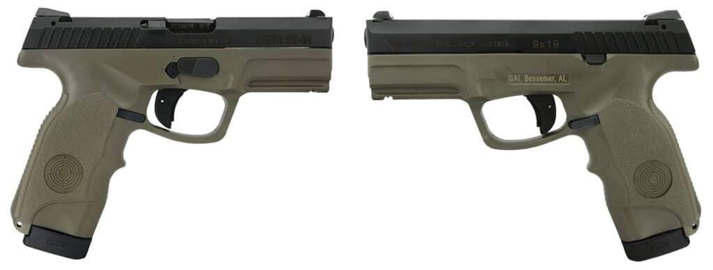 Steyr M9-A1 Pistols in OD Green