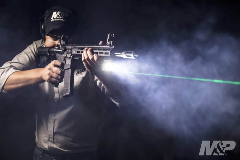 Smith & Wesson M&P15T Rifle with Crimson Trace LiNQ