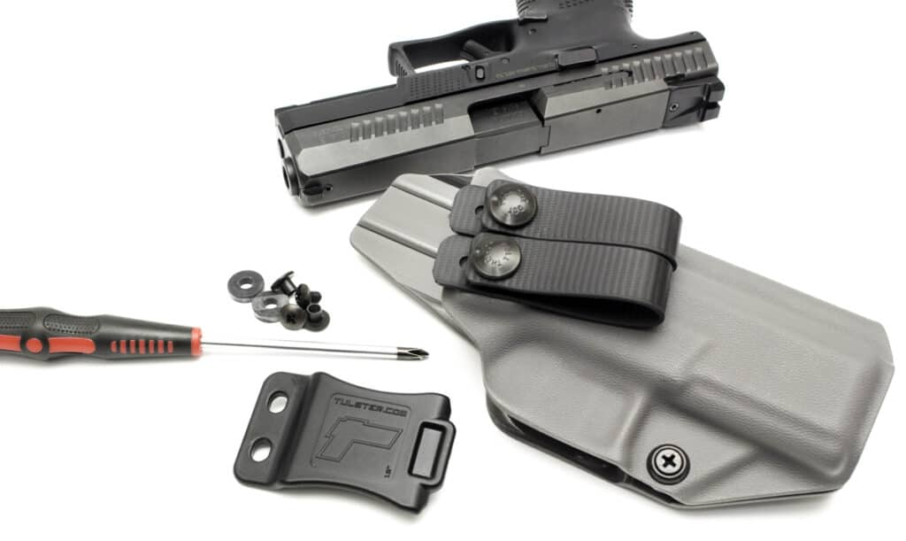 Tulster IWB Profile Holster for CZ P-10 C_Adjustable Belt Clip and Loops