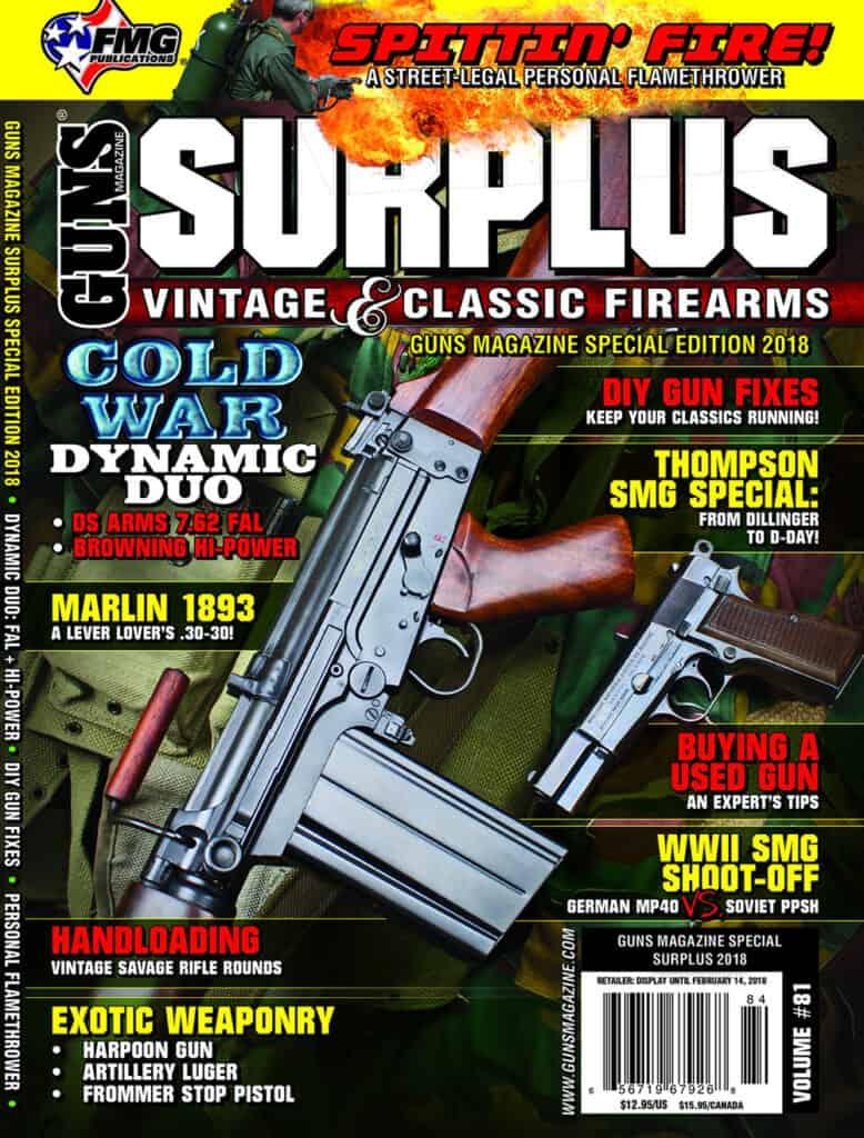 GUNS Magazine Surplus Vintage & Classic Firearms Special Edition 2018