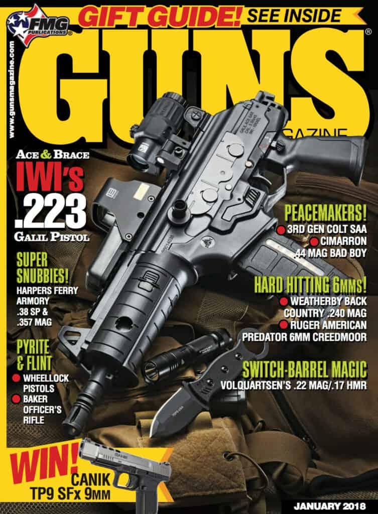 IWI ACE 556 & 762x39 Pistols in GUNS Magazine