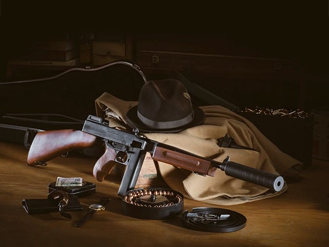 Brownells Chicago Typewriter Exclusive - Auto Ordnance Thompson SBR with Silencerco Omega 45K Suppressor