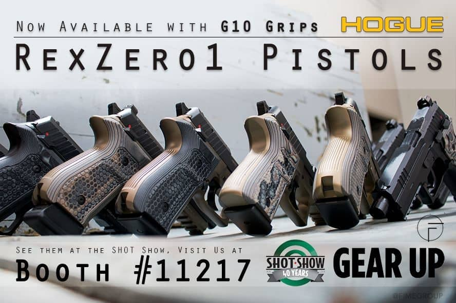 REX Pistols with Hogue G10 Grips