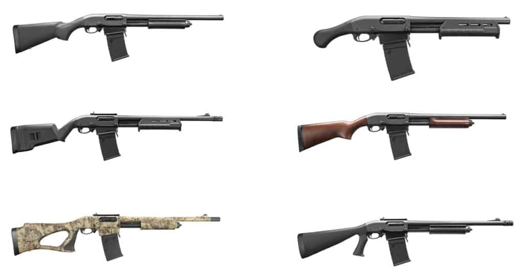 Remington 870 Pump-action Shotguns with Detachable Magazines