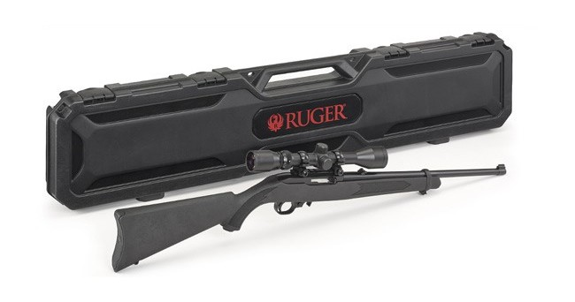 Ruger 10-22 Carbine with Weaver Scope and Case