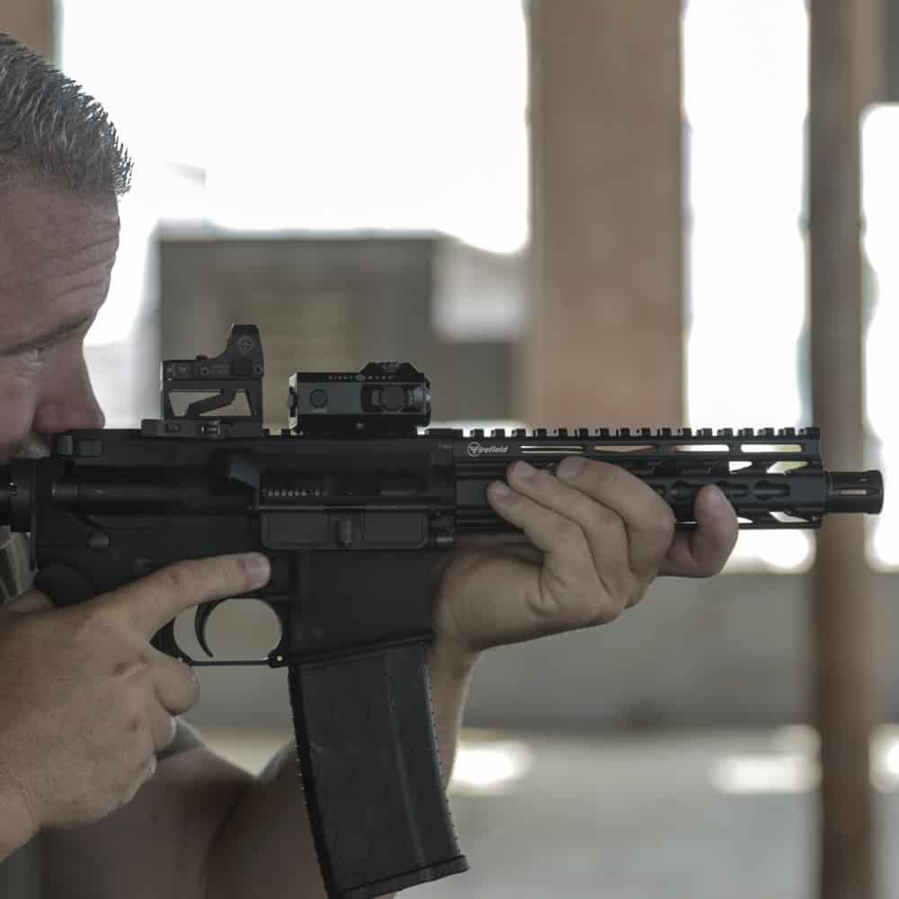 Sightmark Mini Shot M-Spec FMS Reflex Sight on Rifle