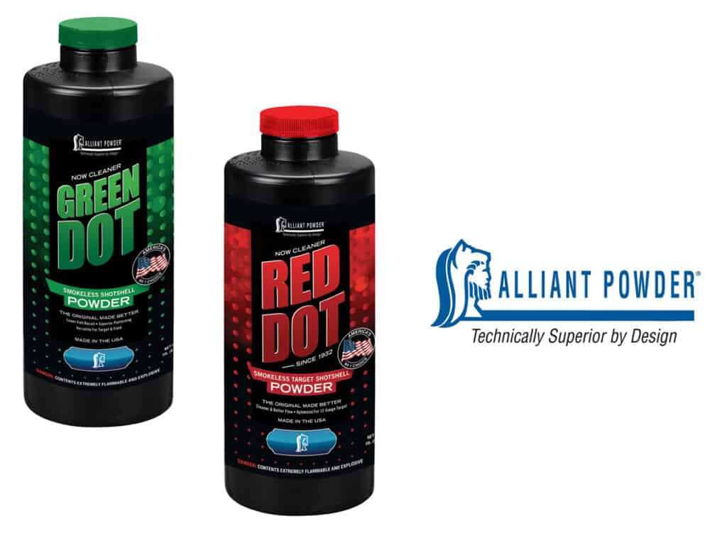 Alliant Powder Green Dot & Red Dot Powder