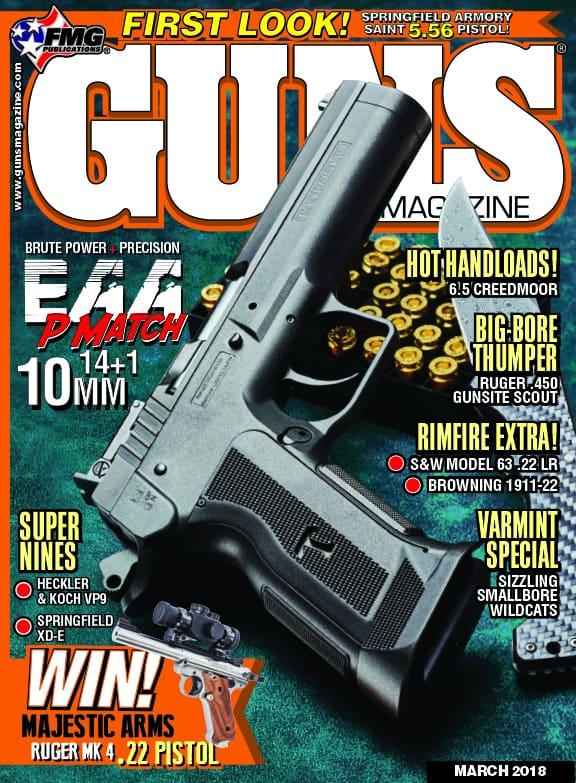 EAA Witness P Match 10mm Pistol in GUNS Magazine