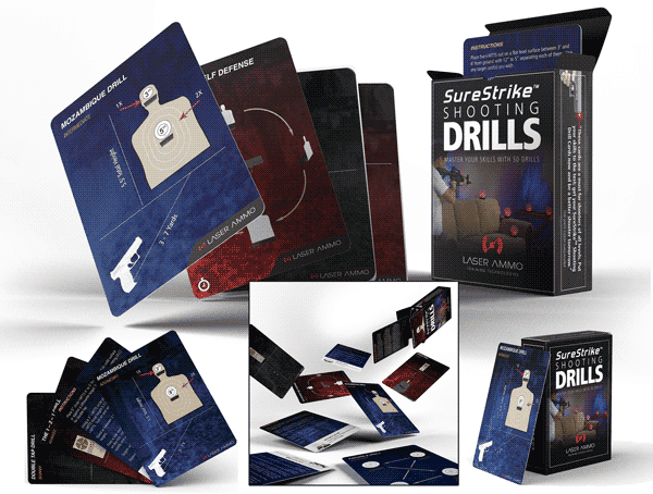 Laser Ammo SureStrike Shooting Drill Cards