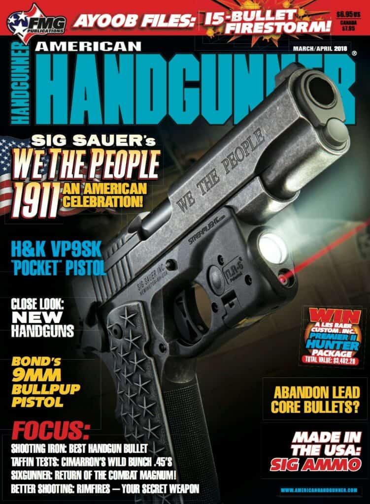 SIG SAUER We The People 1911 in American Handgunner