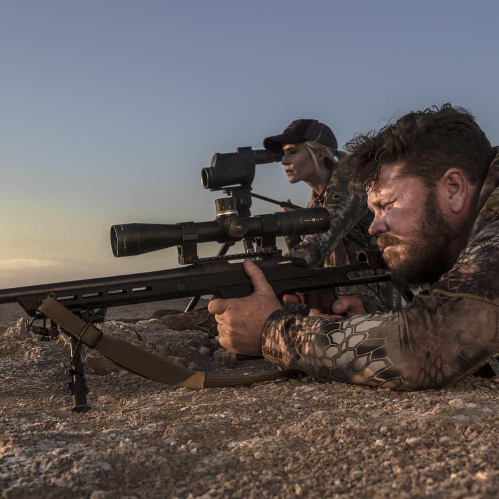 Sightmark Pinnacle 3-18x44 Riflescope on Rifle