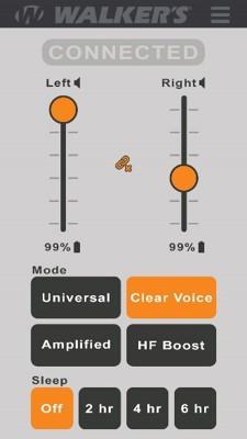Walkers Silencer BT App Interface