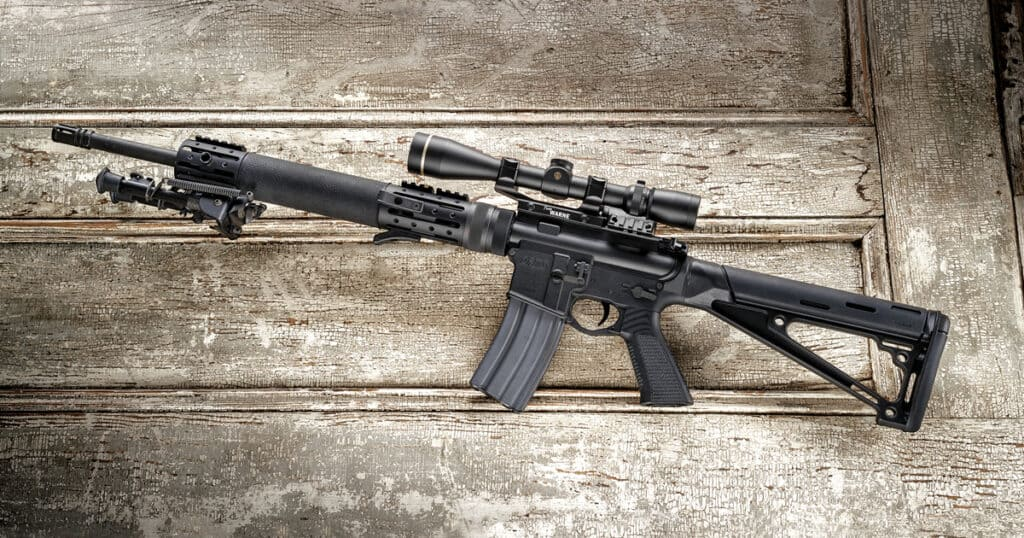 Hogue Rubber OverMoulded AR-15 Fixed Buttstock
