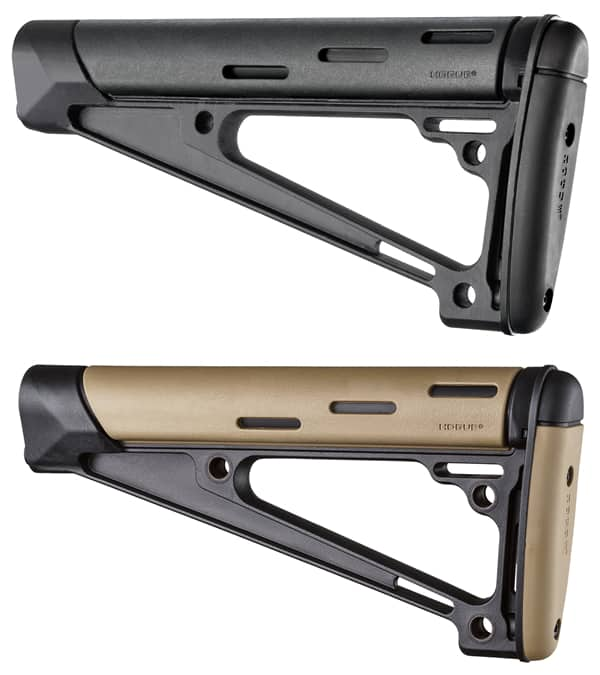 Hogue Rubber OverMoulded AR-15 Fixed Buttstocks