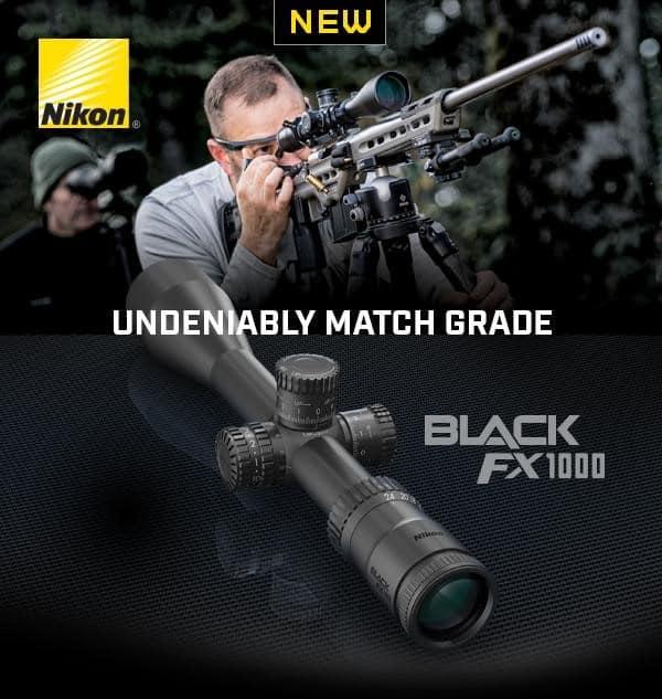 Nikon BLACK FX1000 Match-Ready First Focal Plane Riflescope