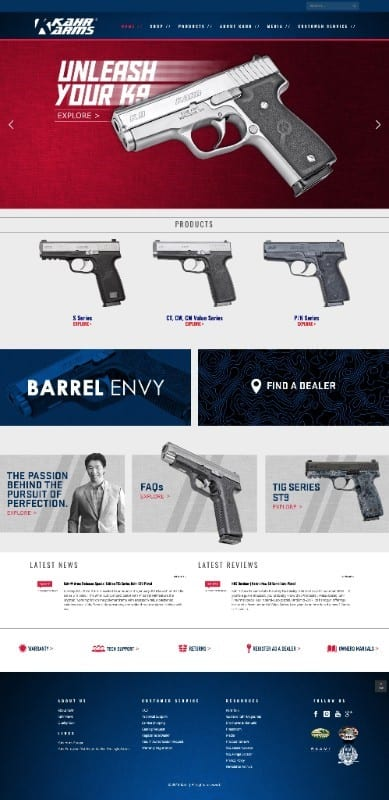 Kahr Arms Launches New Website