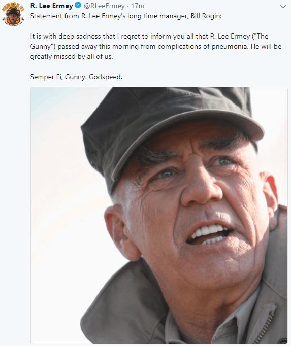 R Lee Ermey - The Gunny