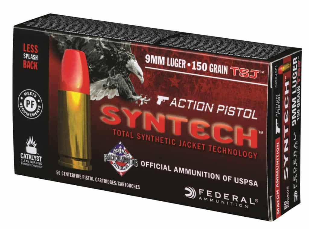 Federal Syntech Action Pistol Competition Handgun Ammunition
