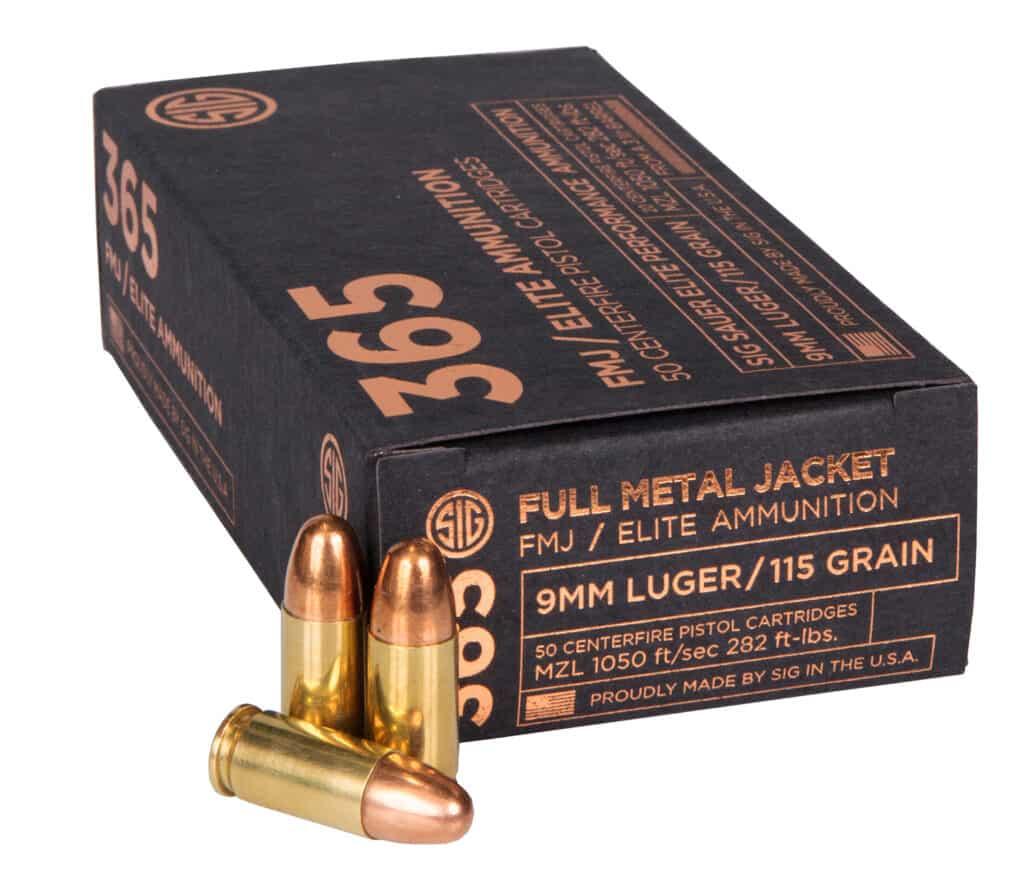 SIG 365 FMJ Ammunition - 115gr 9mm
