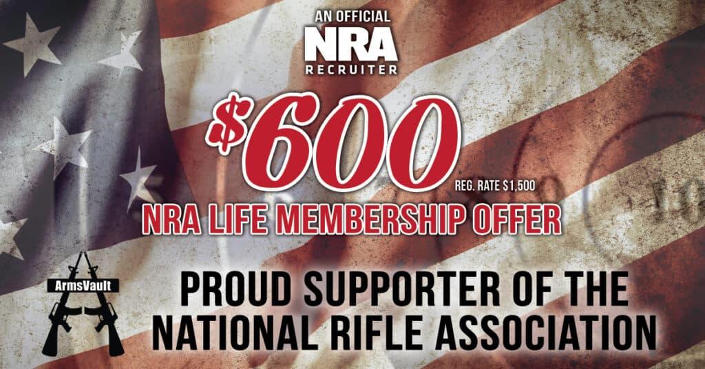 NRA Life Membership-600-ArmsVault