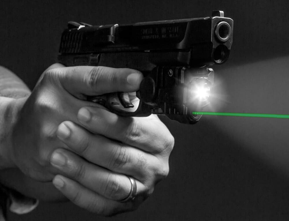 BattleTek Flashlight with Green Laser