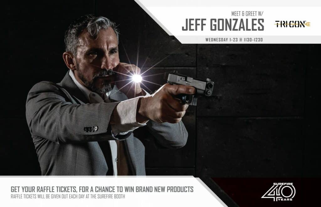 SureFire Hosting Jeff Gonzales & Raffle at SHOT 2019